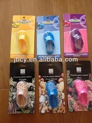 new product for 2015 plastic novelty colorful mini cross air freshener OEM NO MOQ