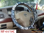 new design girl fabric steering wheel cover car accessories for women