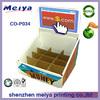 Advertising cardboard pdq counter display box,counter display unit,cardboard counter display brochure holder