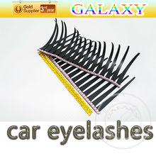 popular car decorative sticker car headlight eyelashes with diamond