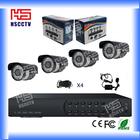 700TVL 4ch CCTV System 4ch DVR Kit 4ch D1 DVR Security Camera System