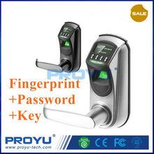 Mini Biometric Fingerprint lock OLED Display with single latch Fashion Design L7000