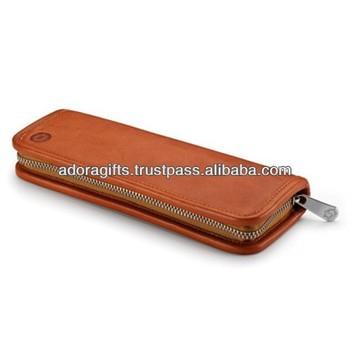 ADALPC - 0043 promotional leather pen and pencil cases / soft leather pen pouch / pocket pouch pen