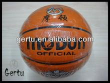 2015 hot sales pu leather match basketball