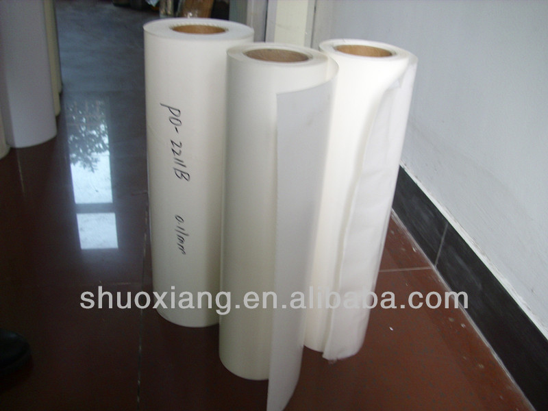 PO hot melt adhesive film for embroidery patch