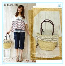 2014 Fashionable High-capacity Beach Bag Tote Straw Bag