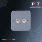 Metal Clad Isolated Coaxial Socket ,Twin Outlet