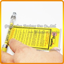 QZB-W203 2015 hot sale hight quality roll out banner pen plastic for company and bank