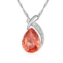 10015 perla perline di corallo gioielli disegni 2 metà cuore collana