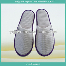 logo embroidery cotton waffle hotel slipper