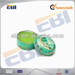 Aluminum round printed tin
