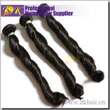 Golden Human Spring Wave Hair Black 5A Red Virgin Remy Peruvian Hair Weave