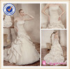SA3626 Ruched taffeta wedding dress with long trains crystal beaded wedding dresses