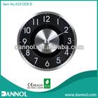 "2013 New product Modern12"" Round Quartz Metal Unique Wall Clock 3D picture"