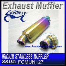 Iridium Motorcycle Exhaust Muffler 200cc 600cc 1000cc FCMUN127