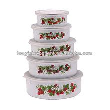 Decals ceramic jobs/cast iron rice bowl in 5 pcs