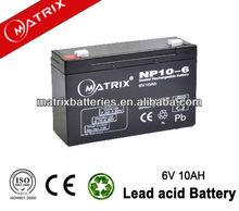 rechargeable emergency LED light 10ah 6V storage battery