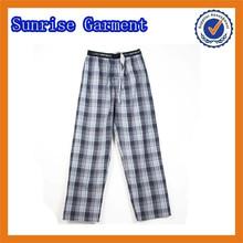 100% cotton yarn dyed pajama pants
