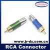 High quality JR cctv audio 75 ohm solder rca audio plug