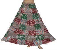 2013 Ladies Designer Patch Work Skirts Hippie style Skirts Indian