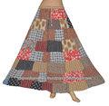 อินเดียออกแบบแพทช์การทำงานผ้าฝ้ายกระโปรงยาวรุ่น