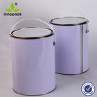 5L Wholesale open head white metal paint container/bucket