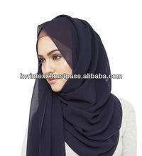 100% viscose warm fashionable georgette scarf