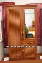cheap wardrobe space save wooden bedroom wardrobe design(207088-2)