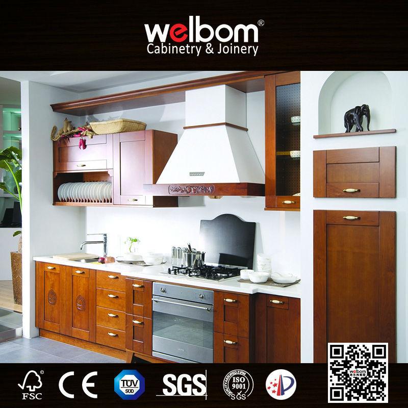 تصميم المطبخ الدولاب خشب الجوز الصلبة