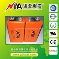 mah 1200 6f22 9v tamaño de la batería de litio er9v