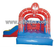 Inflatable spiderman bounce house