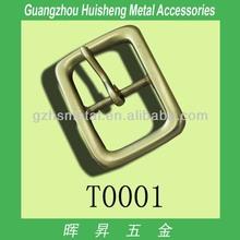brass made square shape metal pin belt buckle