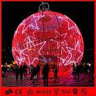 Big red balls decorative lights for resting area&quare&plaza