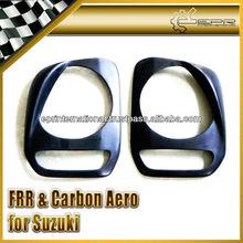 For Suzuki Jimny JB23 JB33 JB43 JB53 Fiber Glass Carbon Fiber Headlight Cover Angry Style