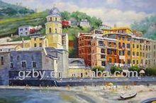 2015 Portofino Venice Cinque Terra Amalfi Italy Mediterranean Cafe Art Oil Painting