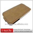 Elegant flip up and down mobile leather case for iphone 4