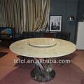 Tembel susan yemek masası yuvarlak mermer tc8-136