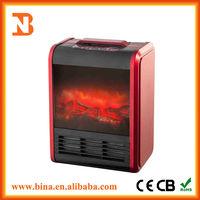 Fashion Portable Lifelike Decor Flame Electric Fireplace Heater