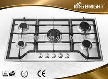 European 5 burner Stainless Steel lpg gas stove hob NKB-AS5H002