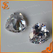 Wuzhou gemstone factory wholesale loose gemstone, white Heart gems