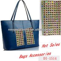 Women Bags Decoration Crystal Mesh