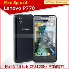 4.5'' lenovo p770 1gb ram 4gb rom lenovo mtk6577 android phone