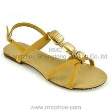 stylish flat beaded latest flat sandal for women 2013