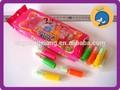Brilhante batom cristal doce cor marrom tablet açúcar açúcar açúcar + pó de ácido embalagem da caixa de cor brinquedos