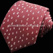 100% silk printed necktie