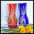 fatto a mano matrimonio vaso alto bohemien vasi di cristallo