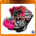 carro barato capa rosa quente presunto cinza chevron tampa de assento infantil carro assento cobre grosso