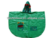 Waterproof Hooded Childrens PVC Rain Poncho