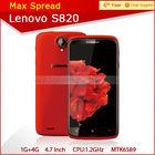 Hot dual sim quad core 4.7'' lenovo s820 lenovo 3g wifi handphone