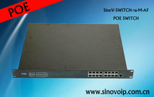 16 Port 15.4w POE Network Switch